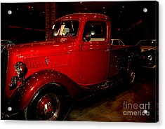 Red Ford Truck Acrylic Print by Susanne Van Hulst