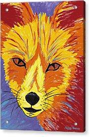 Red Fox Acrylic Print by Peggy Quinn