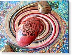 Red Galaxy Acrylic Print by Augusta Stylianou