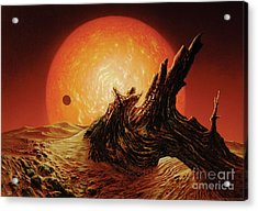 Red Giant Sun Acrylic Print by Don Dixon