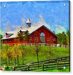 Red House In Caledon Tnm Acrylic Print by Vincent DiNovici