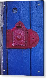 Red Latch Acrylic Print by Bob Whitt