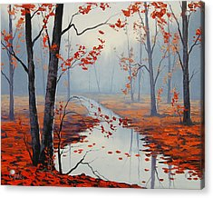 Red Leaves Acrylic Print by Graham Gercken