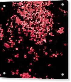Red Metal Rings Acrylic Print by Gunay Mutlu