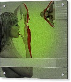 Red Paint Acrylic Print by Naxart Studio