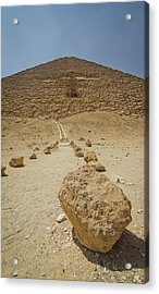 Red Path Of Red Pyramid Acrylic Print by © Marc Mateos