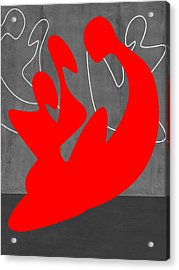 Red People Acrylic Print by Naxart Studio