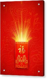 Red Pocket For Chinese New Year Acrylic Print by BJI/Blue Jean Images