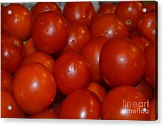Red Ripe And Round Acrylic Print by Johanne Peale