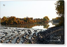 Red River Fall Of The Year Acrylic Print by Steve Augustin