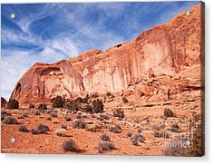 Red Rock And Blue Skies Acrylic Print by Bob and Nancy Kendrick