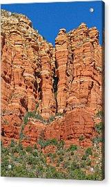 Red Rocks Acrylic Print by Wayne Stabnaw