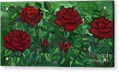 Red Roses - Horizontal Acrylic Print by Anna Folkartanna Maciejewska-Dyba