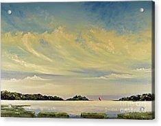 Red Sails Acrylic Print by Diana  Tyson