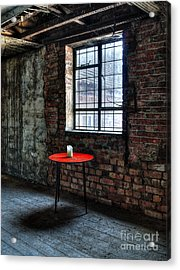 Red Table Acrylic Print by Steev Stamford