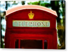 Red Telephone Box Acrylic Print by Chris Thaxter
