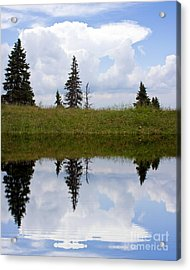 Reflection Of Lake Acrylic Print by Odon Czintos