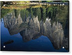 Reflections In Mered River Acrylic Print by Axiom Photographic