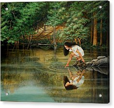 Reflections Of God's Love Acrylic Print by Ruth Gee