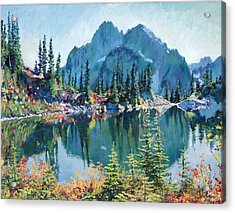 Reflections On Gem Lake Acrylic Print by David Lloyd Glover