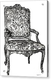Regency Chair Acrylic Print by Adendorff Design