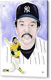 Reggie Jackson Acrylic Print by Steve Ramer