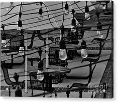 Reitz Union Patio Acrylic Print by Robert Ulmer