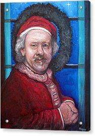 Rembrandt Santa Acrylic Print by Tom Roderick