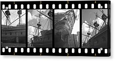 Remember This Boat Acrylic Print by Manuela Constantin