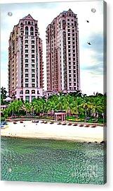 Resort Hotel Mactan Island Acrylic Print by Anita Antonia Nowack