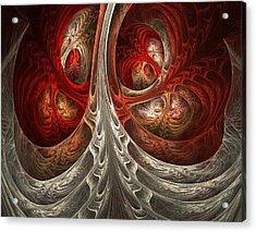 Respiratory Acrylic Print by Lourry Legarde