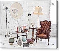 Retro Furniture Acrylic Print by Setsiri Silapasuwanchai