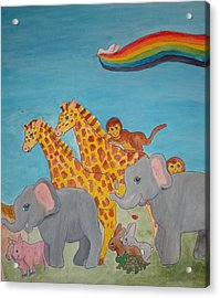 Return From The Ark Acrylic Print by Heather Walker