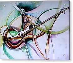 Rhythm Of The Strings Acrylic Print by Oyoroko Ken ochuko