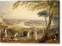 Richmond Terrace Acrylic Print by Joseph Mallord William Turner