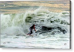 Riding In Beauty Acrylic Print by Karen Wiles