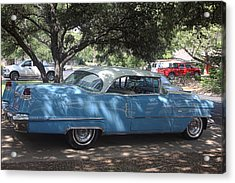 Right View 1956 Cadillac Acrylic Print by Linda Phelps