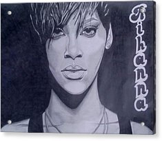 Rihanna Acrylic Print by Lakeesha Mitchell