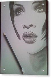 Rihanna Acrylic Print by Lucia Vratiakova