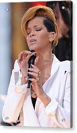 Rihanna On Stage For Good Morning Acrylic Print by Everett