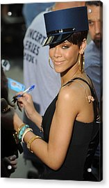 Rihanna On Stage For Nbc Today Show Acrylic Print by Everett
