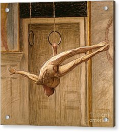 Ring Gymnast No 2 Acrylic Print by Eugene Jansson