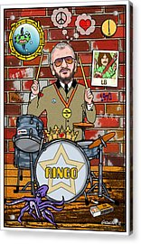 Ringo Starr Acrylic Print by John Goldacker