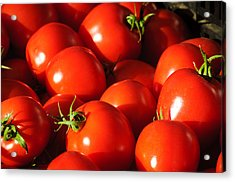 Ripe Tomatoes Acrylic Print by Connie Cooper-Edwards
