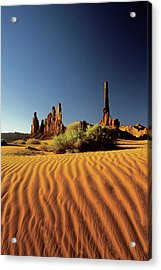 Ripples In The Sand, Monument Valley Tribal Park, Arizona, Usa Acrylic Print by Medioimages/Photodisc