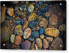 River Rock Acrylic Print by Karol Livote