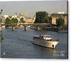 River Seine In Paris Acrylic Print by Bernard Jaubert