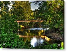 River Walk Bridge Acrylic Print by Greg and Chrystal Mimbs