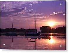Acrylic Print featuring the photograph Riverside Park Sunrise by Joel Witmeyer