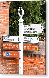 Road Signs Acrylic Print by Tom Gowanlock